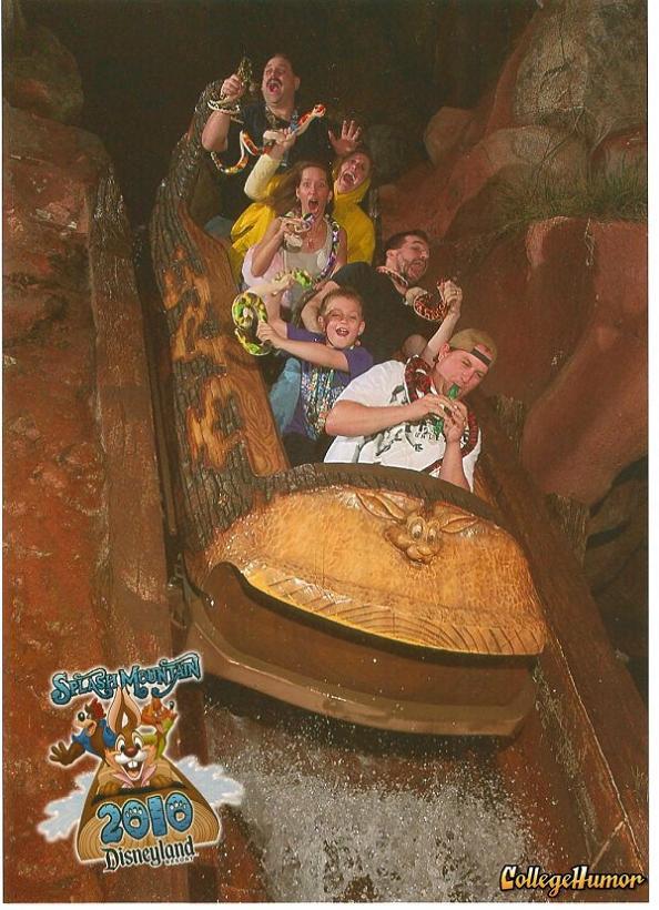 funny splash mountain snakes 21 Hilarious Pics from Disney Worlds Splash Mountain