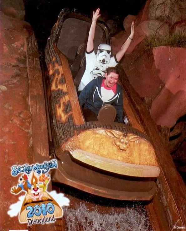 funny splash mountain star wars stormtrooper 21 Hilarious Pics from Disney Worlds Splash Mountain