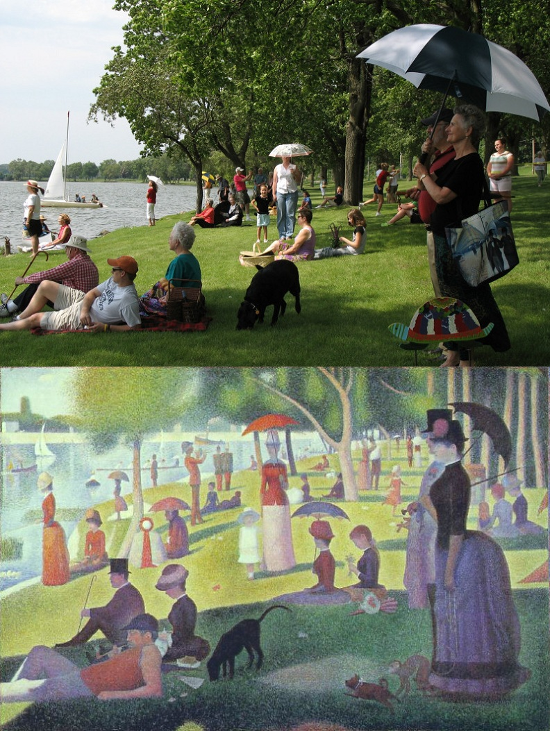 georges pierre seurat a sunday afternoon neo impressionism Picture of the Day: Recreating a Classic | Nov 18, 2010