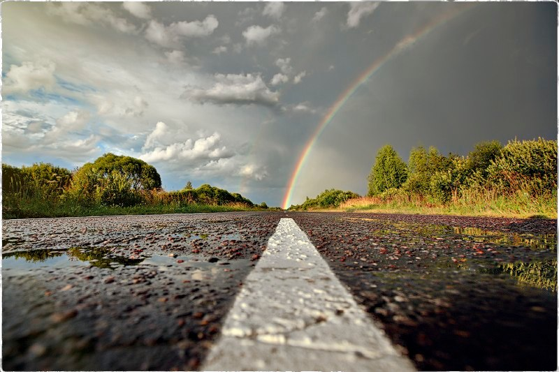 rainbow on road Picture of the Day: Rainbow Road | Nov 25, 2010