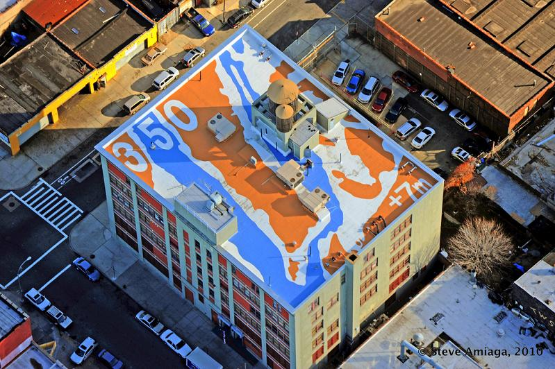 350 cool roof by molly dilworth new york city usa 350 Earth: Worlds First Art Exhibit Visible from Space
