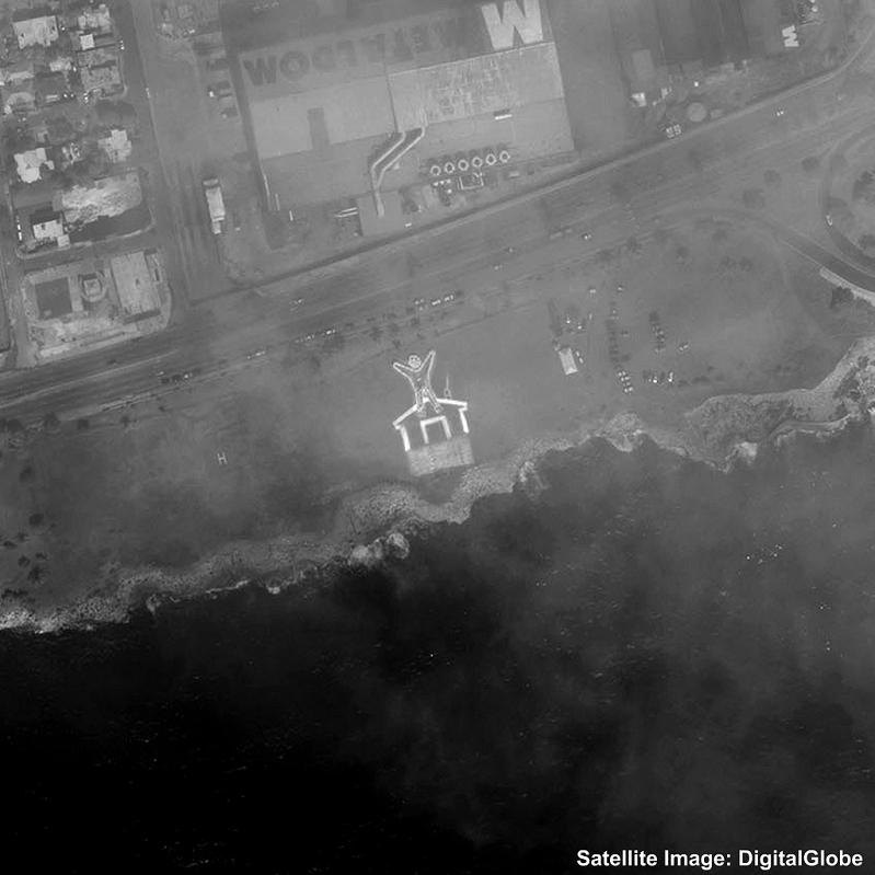 350 earth dominican republic 2 350 Earth: Worlds First Art Exhibit Visible from Space