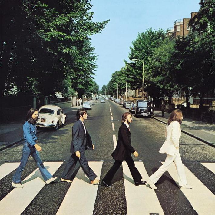 abbey road Picture of the Day: Four Guys Crossing a Road | Dec. 4, 2010