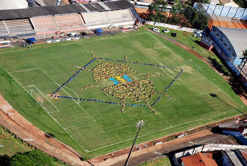 brazil 350 Earth: Worlds First Art Exhibit Visible from Space
