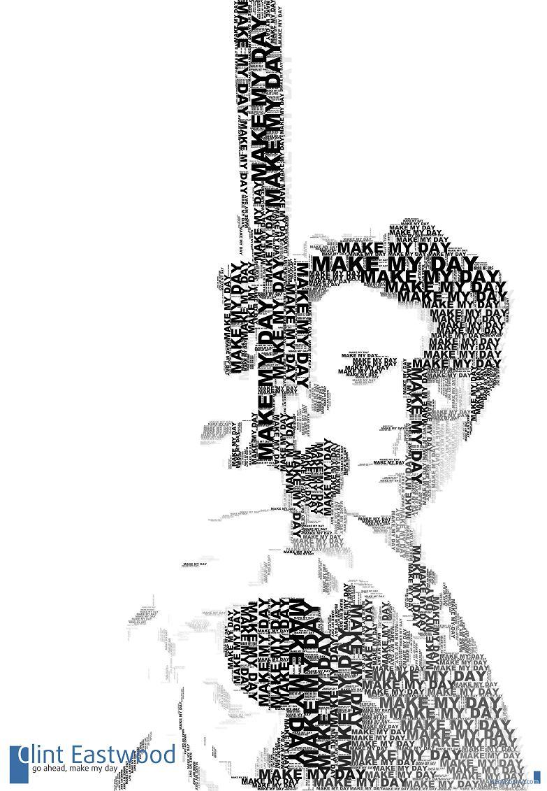 dirty harry clint eastwood word art  The Wonderful Word Art of Juan Osborne [20 pics]