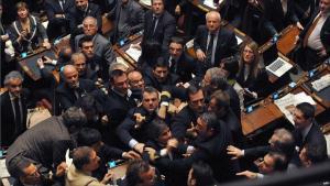 fight in italian parliament burlosconi fight in italian parliament burlosconi