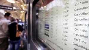 flight schedule board cancelled flight schedule board cancelled