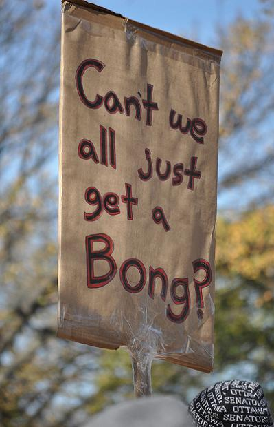 get a bong funny protest sign 25 Funniest Protest Signs of 2010