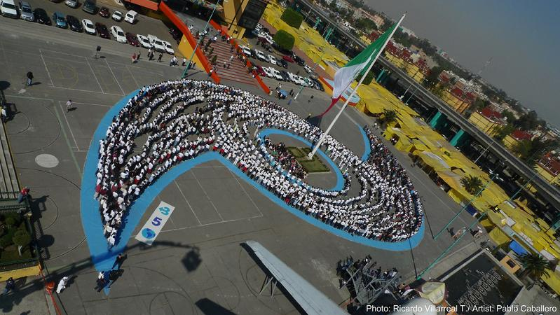 human hurricane by pablo caballero mexico city mexico 350 Earth: Worlds First Art Exhibit Visible from Space