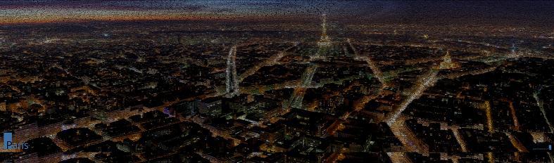 paris at night word art juan osborne The Wonderful Word Art of Juan Osborne [20 pics]