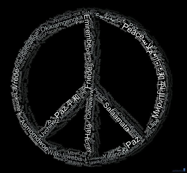 peace symbol in multiple languages The Wonderful Word Art of Juan Osborne [20 pics]