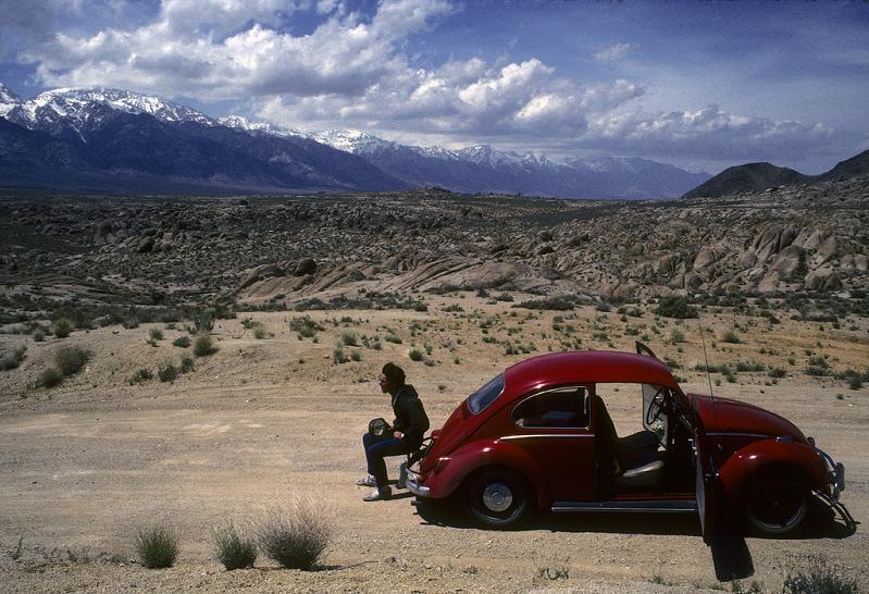 red beetle car landscape The Flickr Color Exploration Series: RED