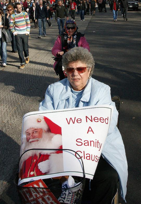 sanity clause funny protest sign 25 Funniest Protest Signs of 2010