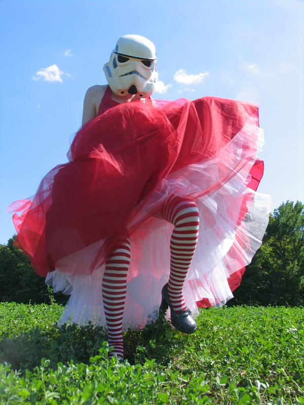 stormtrooper in red dress The Flickr Color Exploration Series: RED