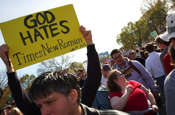 times new roman funny protest sign 25 Funniest Protest Signs of 2010