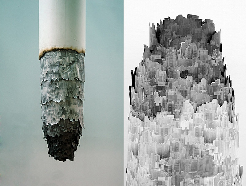 cigarette ash landscape yang yongliang 2 Picture of the Day: The Ash Landscape