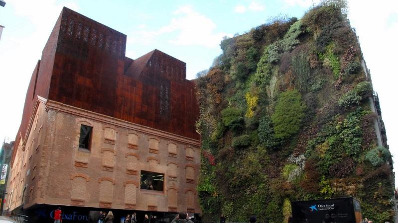 living vertical garden wall caixa forum madrid Picture of the Day: Vertical Garden Wall in Madrid, Spain