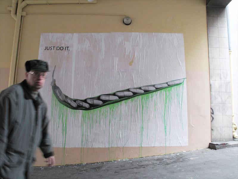 ludo street art natures revenge 23 Incredible Street Art of LUDO: Natures Revenge pt. 2 [28 pics]