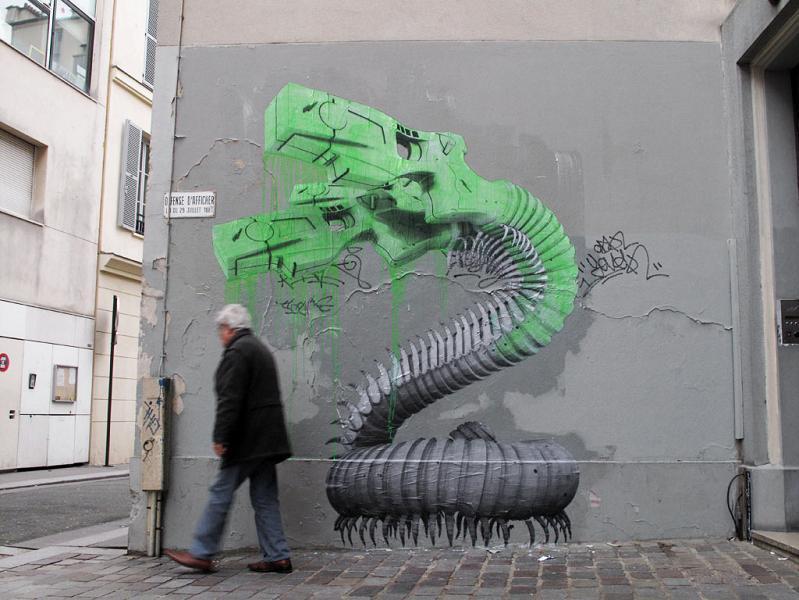 ludo street art natures revenge 24 Incredible Street Art of LUDO: Natures Revenge pt. 2 [28 pics]