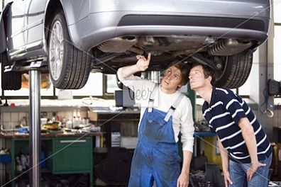 machanic pointing at car Fun With Stock Photography: Pointing [47 pics]