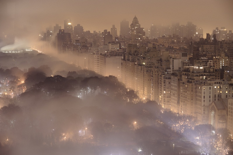 new york city at night foggy misty Picture of the Day: New York City at Night