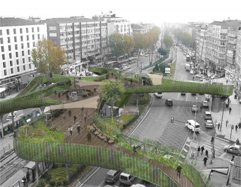 pedestrian footbridge istanbul winner lea invent 6 Winner of the Istanbul Pedestrian Footbridge Design Competition