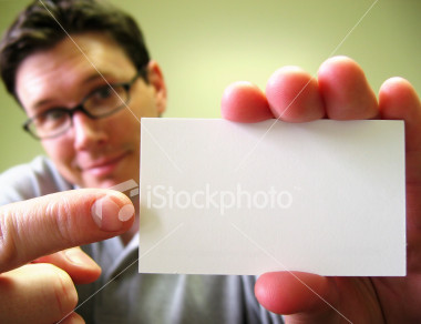 pointing at business card Fun With Stock Photography: Pointing [47 pics]