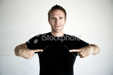pointing to himself Fun With Stock Photography: Pointing [47 pics]