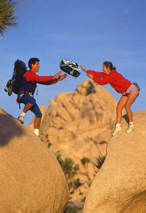 woman throwing tossing backpack mountains hiking Pepper Spray All the Things: 35 Funniest Photoshops