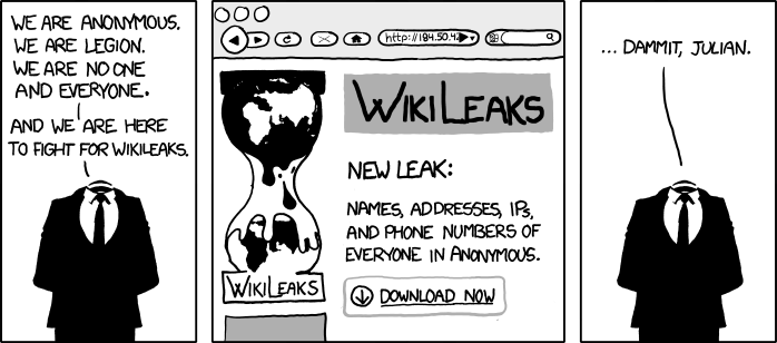 xkcd wikileaks anonymous comic We Are Anonymous [Comic Strip]