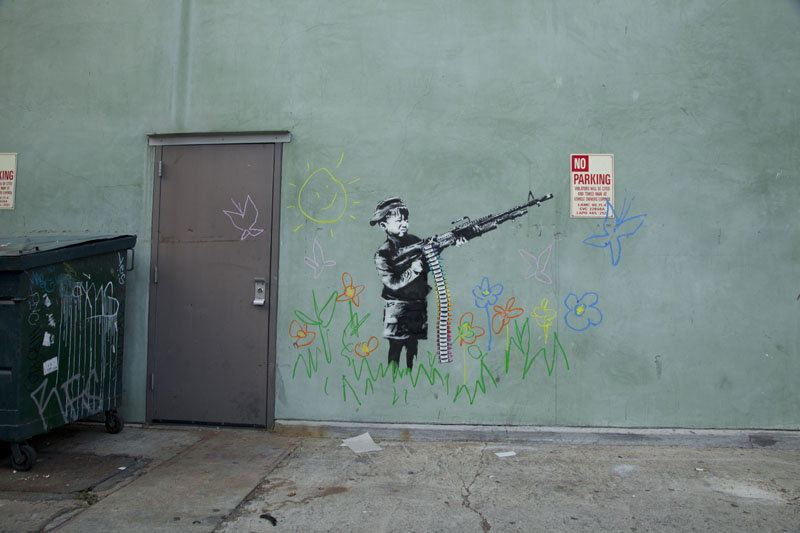 banksy hollywood crayon boy Picture of the Day: Banksy Hits Hollywood