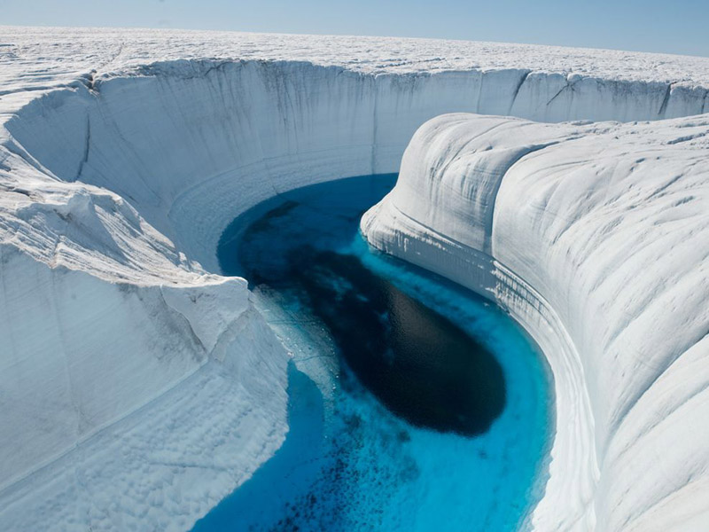 ice canyon greenland Picture of the Day: Ice Canyon, Greenland