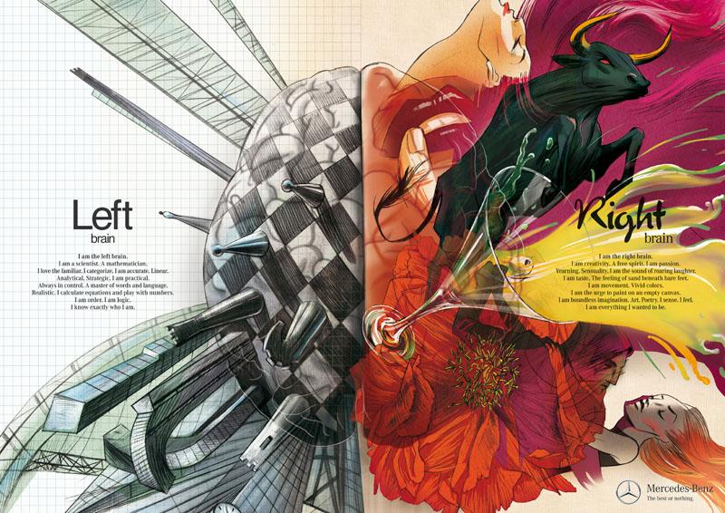 left brain right brain illustration mercedes Picture of the Day: Left Brain vs Right Brain