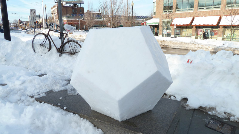 snodecahedron dodecahedron made out of snow Picture of the Day: SNOWDECAHEDRON!