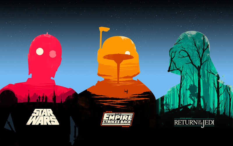 star wars trilogy movie posters olly moss Picture of the Day: Star Wars Trilogy Poster Redux