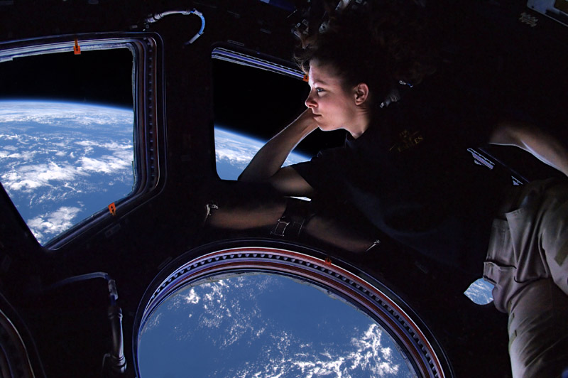 tracy caldwell dyson in the cupola module of the international space station observing the earth 10 Things You Didnt Know About the International Space Station