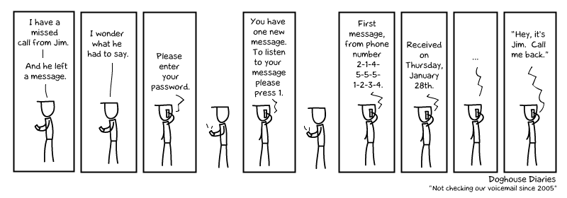 why i dont check voicemail anymore doghouse diaries Voicemail [Comic Strip]