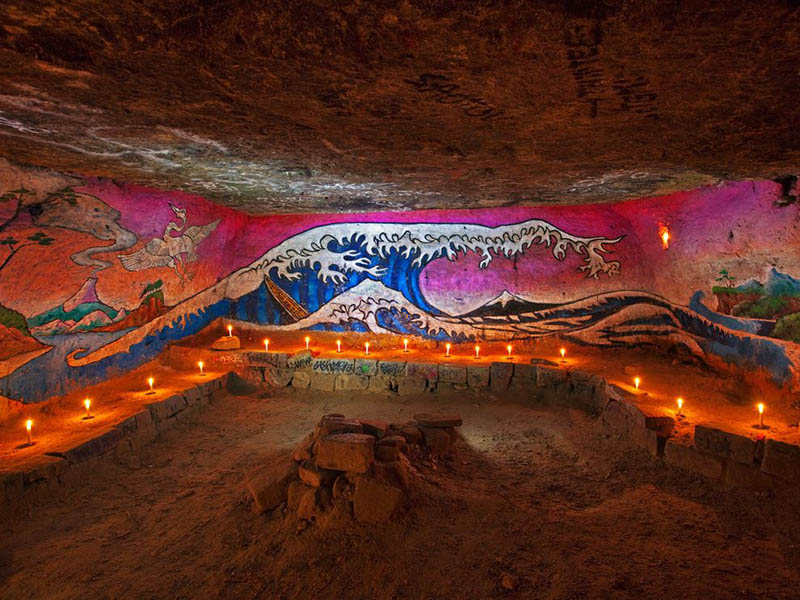 beach catacomb paris wave painting Picture of the Day: Catacombs of Paris