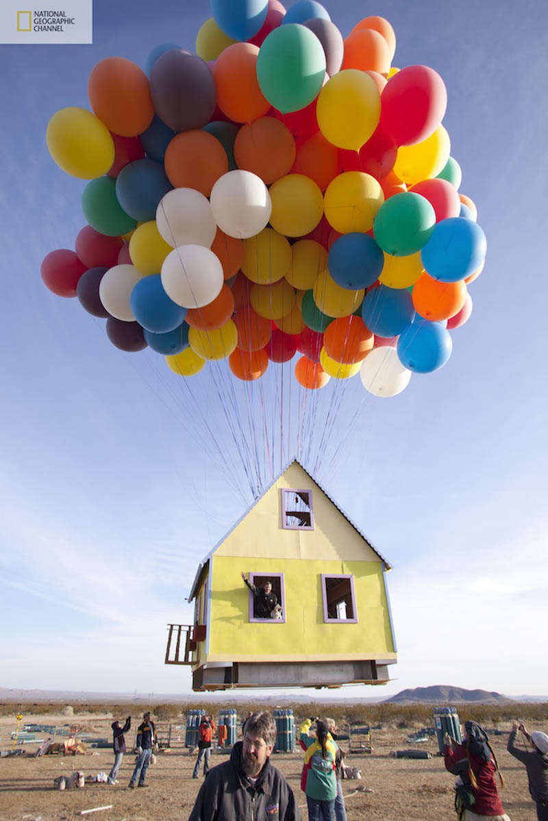 carl and ellie house from up in real life Picture of the Day: Balloon House from UP in Real Life!