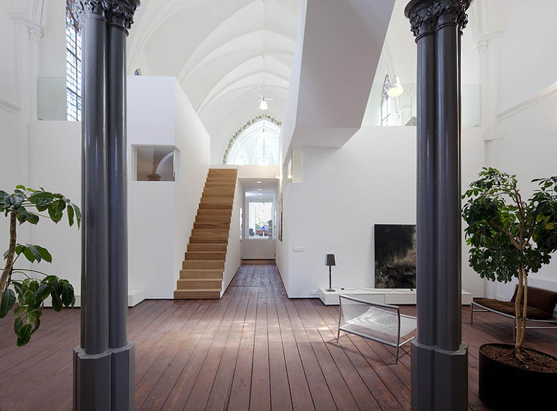church conversion into residence utrecht the netherlands zecc architects 11 Converting a Church Into a Family Home