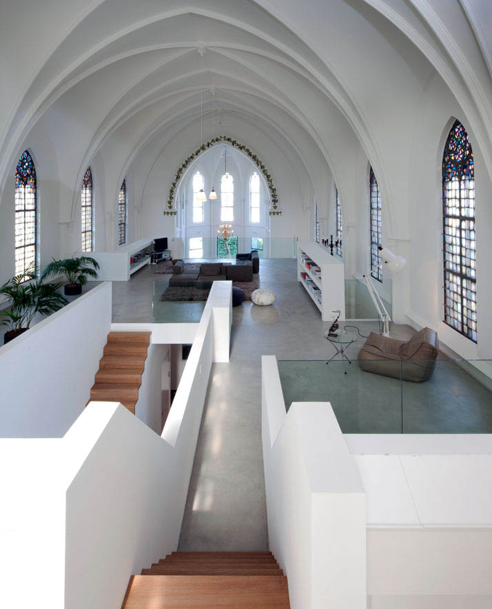 church conversion into residence utrecht the netherlands zecc architects 21 Artist Converts Century old Gas Station into Home