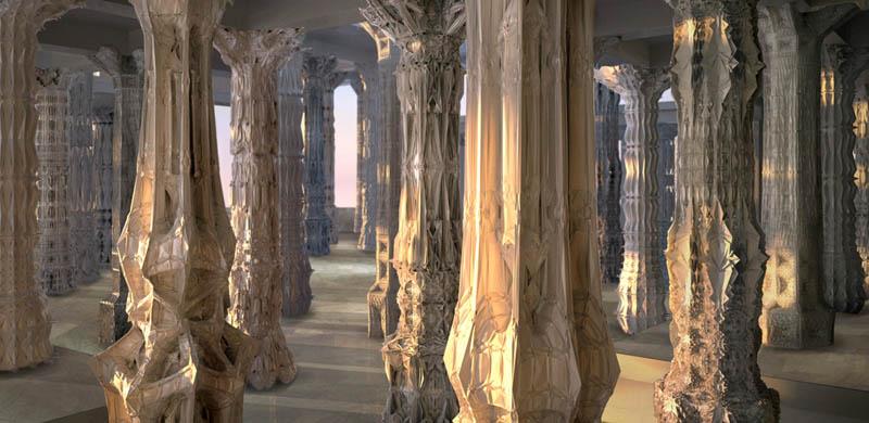 complex doric columns michael hansmeyer mandelbrot 1 The Worlds Most Complex Architectural Columns