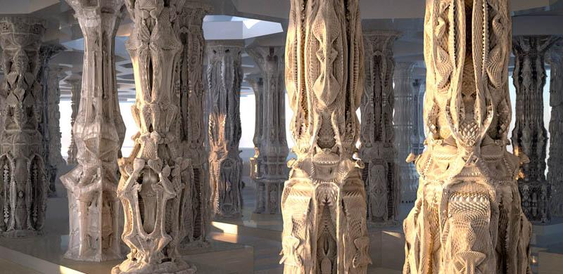 complex doric columns michael hansmeyer mandelbrot 2 The Worlds Most Complex Architectural Columns