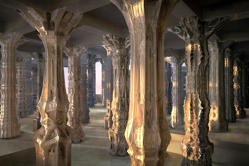 complex doric columns michael hansmeyer mandelbrot 3 The Worlds Most Complex Architectural Columns