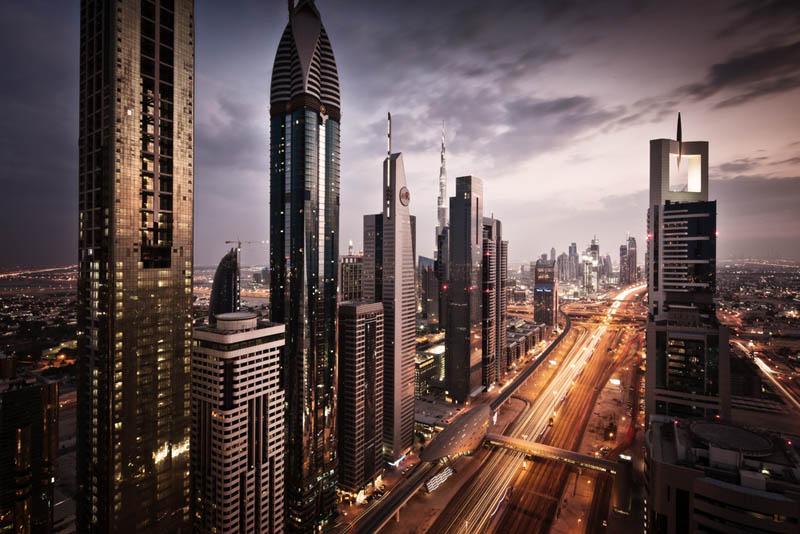 dubai skyline aerial 25 Stunning Skylines Around the World
