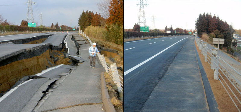 highway destroyed and rebuilt japan tsunami earthquake 2011 Picture of the Day: Together We Can Rebuild