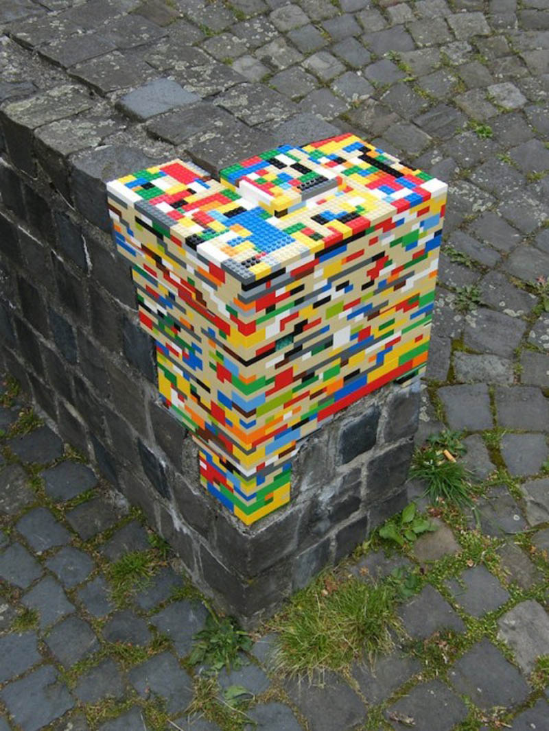 lego on edge of ledge bricks divide Picture of the Day: LEGO Everywhere!