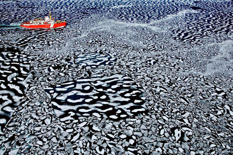 louis saint laurent icebreaker in resolute bay nunavut territory canada 25 Mind Blowing Aerial Photographs Around the World