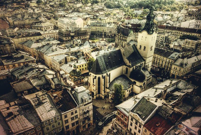 lviv ukraine skyline aerial 25 Stunning Skylines Around the World