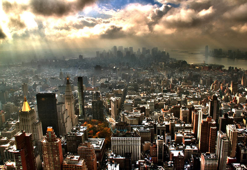 new york city skyline aerial 25 Mind Blowing Aerial Photographs Around the World